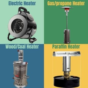 types of greenhouse heaters