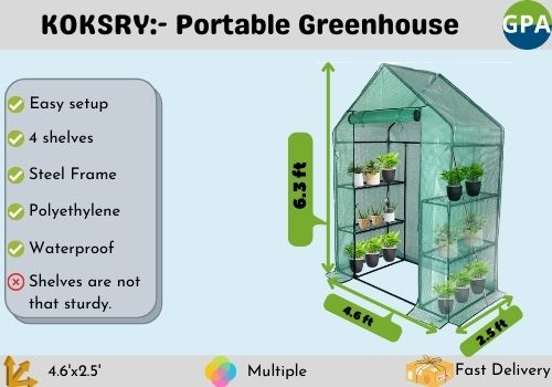 best portable greenhouse for inside and outside growing seedlings