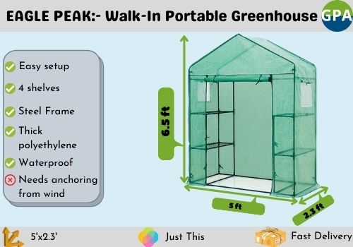best portable walk-in greenhouse for the money